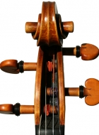 violin after Lord Wilton Guarneri Sept 2013 scroll frontview