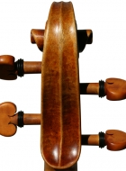 violin after Lord Wilton Guarneri Sept 2013 scroll back view