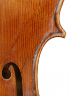 viola 16 3/4′ 42.7cm in Brescian style detail above-treble-f