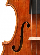 violin after Lord Wilton Guarneri Sept 2013 front middle bout