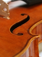 violin-after-late-guarneri-del-gesu f-hole-side-view