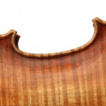 back detail of violin 2011 after A Stradivari