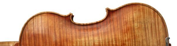 back detail of violin 2011 after A Stradivari