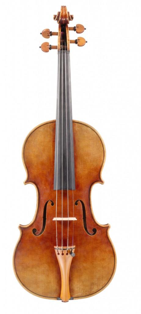 front view violin Andreas Hudelmayer 2011 after Antonio Stradivari
