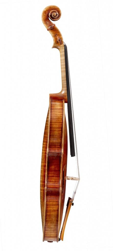 side view violin Andreas Hudelmayer 2011 after Antonio Stradivari