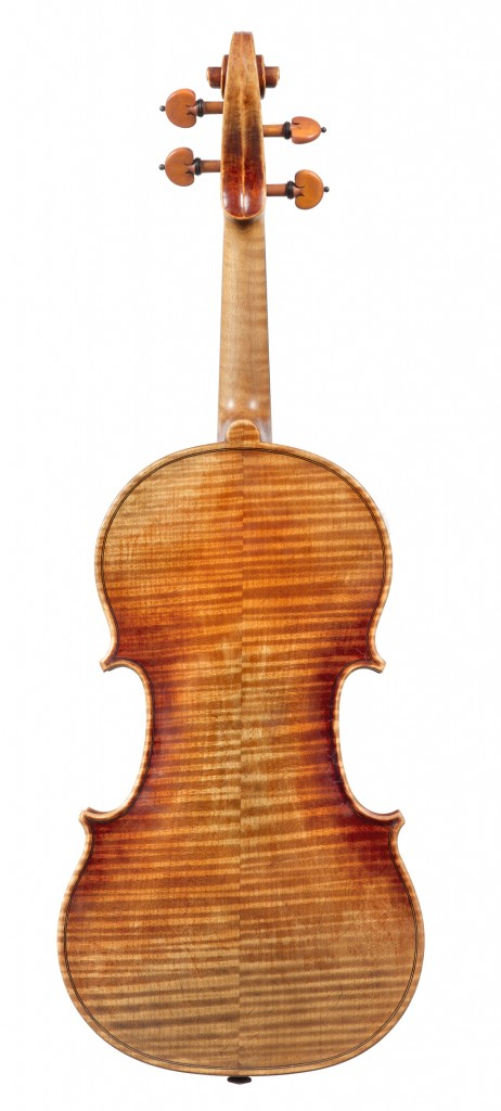 back view violin Andreas Hudelmayer 2011 after Antonio Stradivari