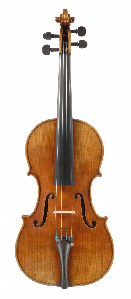 front view violin Andreas Hudelmayer 2010 after late Guarneri del Gesu