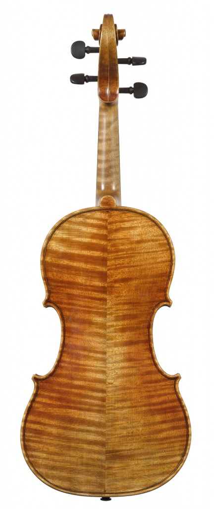 back view violin Andreas Hudelmayer 2010 after late Guarneri del Gesu